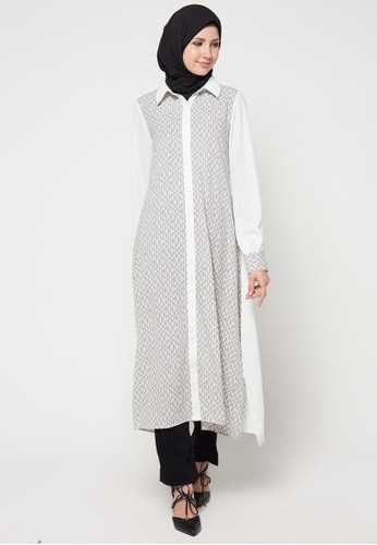 AZZAR grey Malva Maxi Dress AZ485AA44WJJID_1