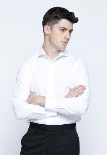 Long Sleeve Shirt - WHITE - The Executive