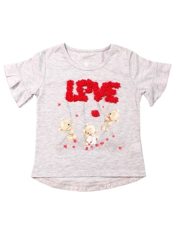 Mini Zo grey Ceren Baby Girl Shirts Grey 9C115KAAD4DA29GS_1