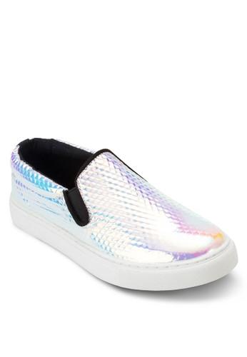 esprit旗艦店金屬感鐳射休閒懶人鞋, 女鞋, 休閒鞋