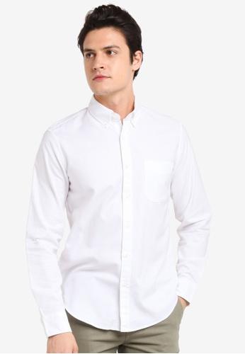 J.Crew white Men's Slim Stretch Oxford Cloth 56176AAFC55EA3GS_1