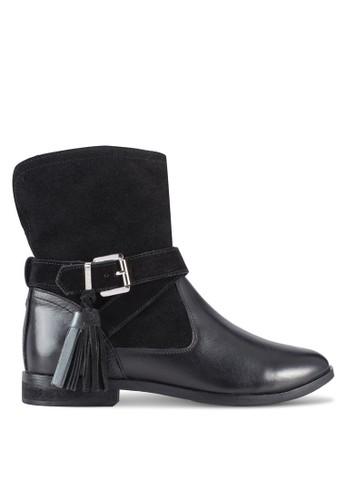 Vesprit twermont 材質拼接流蘇飾高筒靴, 女鞋, 鞋