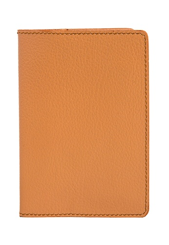 Miajee's orange Slim Passport Cover Leather Handcrafted B41A7AC03A29EEGS_1