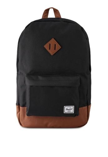 Herschel black Heritage Backpack 5A922ACA86B7D0GS_1