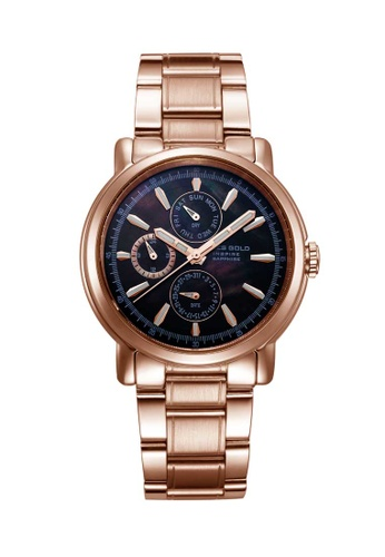 Aries Gold gold Aries Gold Inspire Contender Rose Gold Watch 98E41AC216FB08GS_1