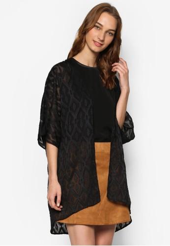 Love 幾何暗紋日式開襟外套, 服飾esprit門市, 外套