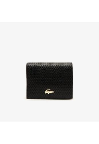 Lacoste black Lacoste Women's Chantaco Small Piqué Leather Snap Wallet-NF2960CE 50D1CAC212D024GS_1