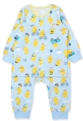 Organic mom yellow and green Organic Cotton Ada Duck Floral Lightweight Long Sleeves Pjs A2B5FKA180D9C0GS_1