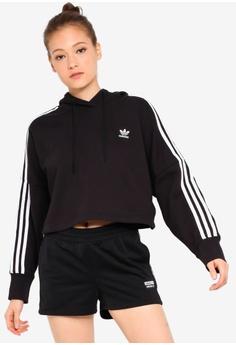 a77f0259 adidas black adidas originals cropped hoodie 90118AA8C60EDCGS_1