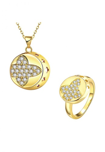 Treasure by B & D gold S062-A Gold Zircon FashioN Round Design Jewellery Set TR022AC70VBLPH_1