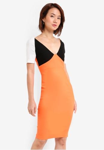 63844bca6e94 Shop Vesper Bryony Colourblock Midi Dress Online on ZALORA Philippines