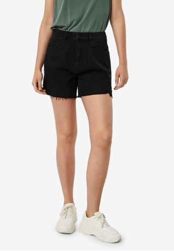 Vero Moda black High Waisted Lace Shorts 32CFDAA8354E0AGS_1