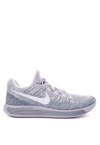 Nike white and silver Men's Nike Lunarepic Low Flyknit 2 Running Shoes NI126SH0K1B8PH_1