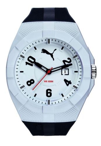 Puma Watches black PU103501014 Iconic Day 50P White Black Men Watch PU549AC0RJVZMY_1