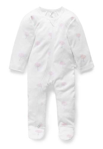 Purebaby pink Zip Growsuit 8D4D1KA8AF1A13GS_1