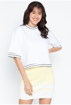 693f117e62748 Folded   Hung black and white Striped Top With Ribbings C744CAAF4BCF8AGS 1