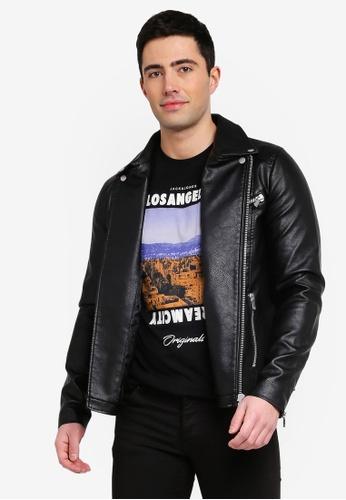 b73e0c3fa Jprcam Pu Leather Biker Jacket