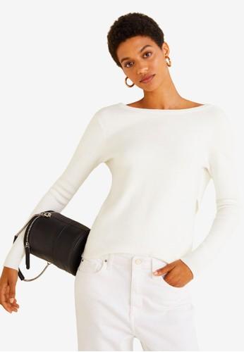MANGO beige Crossed Back Sweater BC40DAA17A37BFGS_1