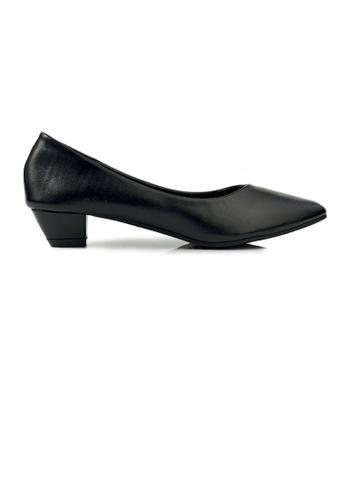 SHINE black SHINE Point Toe Shinny Low Heels 6BCB8SH890BAB7GS_1
