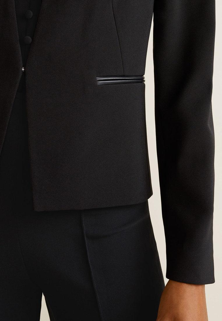 Inverted Inverted Black Blazer Black Mango Blazer Lapels Lapels Mango gIqxv6S