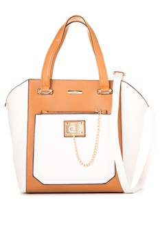 Chained Zip Pocket Tote