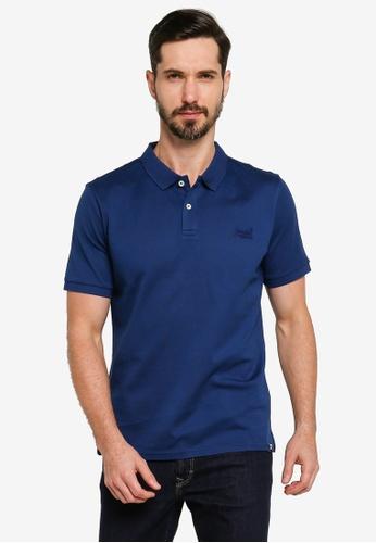 SUPERDRY blue Classic Micro Lite Pique Short Sleeve Polo Shirt C1F84AACBD05FCGS_1
