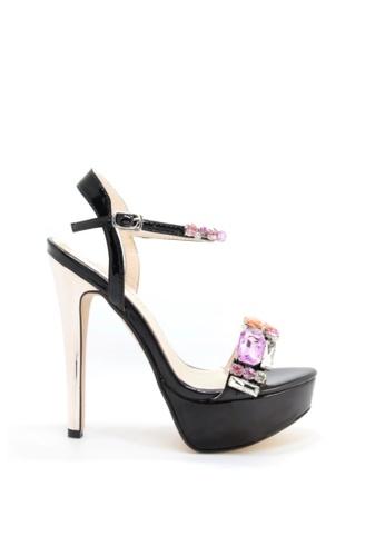 PRODUIT PARFAIT 黑色 鑽石電鍍高跟鞋 66B65SH7EDCB42GS_1
