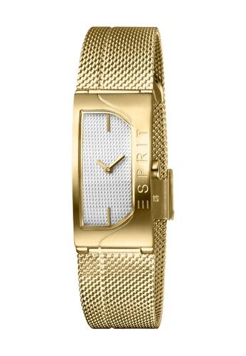 Esprit gold ESPRIT [Houston Blaze] 18mm Gold Stainless Steel Mesh Band Women Watch [ES1L045M0035] FF222AC8C31B41GS_1