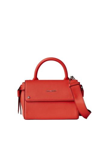 KARL LAGERFELD red K/Ikon Mini Top Handle 16602ACEDBA78FGS_1