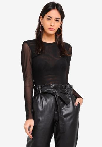 Y.A.S black Jessa LS Bodysuit F0B14AA4594CA0GS_1