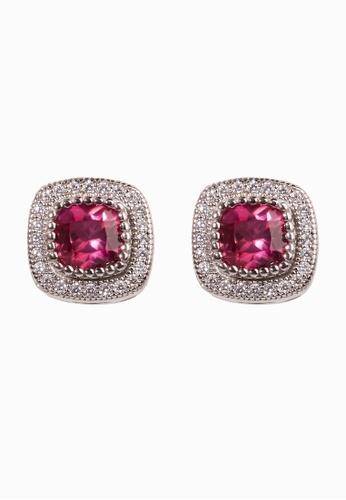e196363e4a Buy SHANTAL JEWELRY Cubic Zirconia Silver Ruby Stud Earrings Online on  ZALORA Singapore