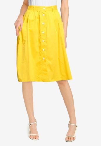 niko and ... yellow Button Down Skirt 2D753AA978DE0BGS_1
