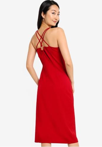 ZALORA BASICS red Double Strap Midi Dress 114F1AA057123AGS_1