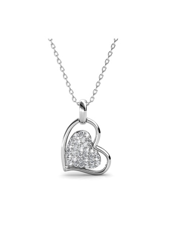 Her Jewellery white Her Jewellery Love Protection Pendant (White Gold) with Necklace Chain with 18K Gold Plated E5A15AC6A04A00GS_1