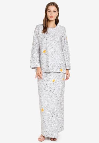 Butik Sireh Pinang grey Baju Kurung Kedah Maria B67C4AA6FDE9F9GS_1