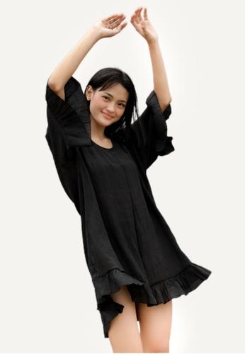 Bluepalm black Minalahos Cover Up Dress 1FFB1USF88631DGS_1