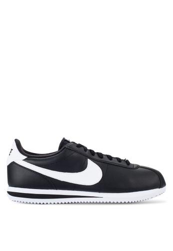 Nike black Men's Nike Cortez Basic Leather Shoes NI126SH70NBTMY_1