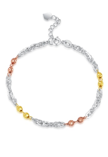 MaBelle gold 14K Rose, Yellow And White Gold Bracelet MA584AC31IGIHK_1