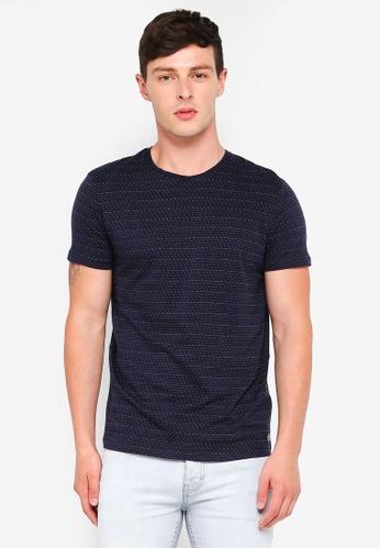 ESPRIT 海軍藍色 短袖T恤 CD42EAAB577183GS_1