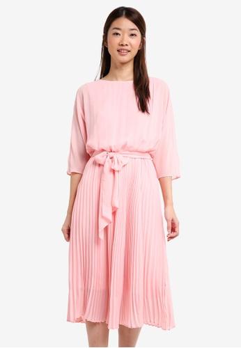 ESPRIT pink Light Woven Midi Dress 54AA6AA35ED96CGS_1