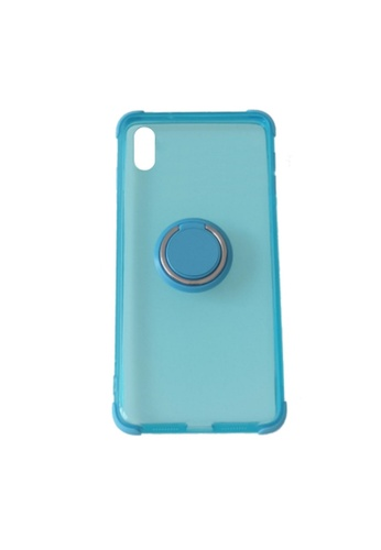 MobileHub blue iPhone XS Max Silicone Clear Case with X-Ring 835F5AC6B1EF53GS_1