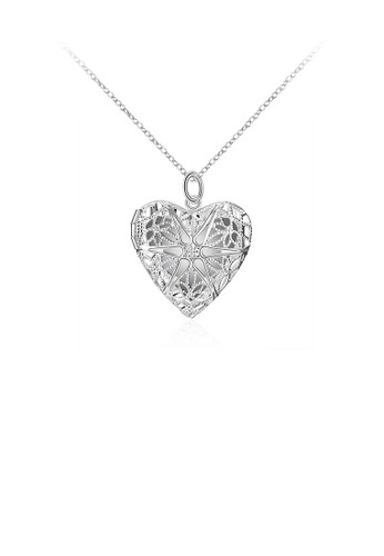 Glamorousky silver Fashion Romantic Hollow Heart Pendant with Necklace 0DBCFAC5D4EBC8GS_1