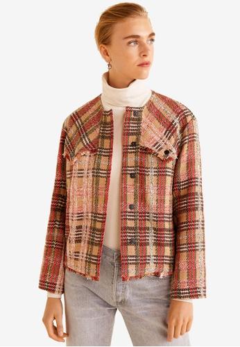 d55fa1a046 Buy Mango Pocket Tweed Jacket Online on ZALORA Singapore
