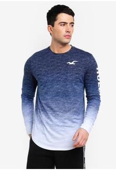 2f4773334fb Hollister navy Long Sleeve Printed T-Shirt 06AB0AA74793DBGS_1