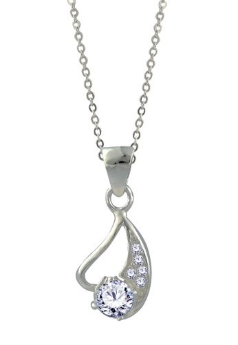 SC Tom Silver silver Stone Pendant with Chain-TPS081 w/chain SC872AC21GFYPH_1