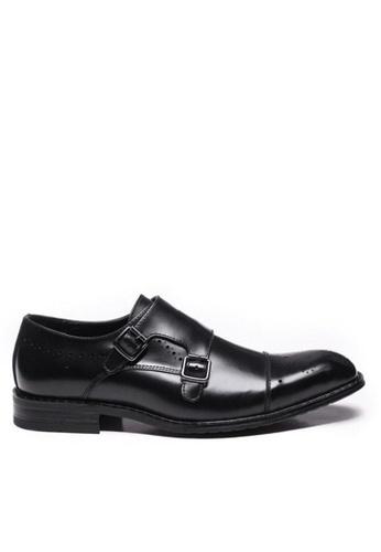 Twenty Eight Shoes black Leather Classic Monk Strap Shoes M2017 06B5ESHF215AE5GS_1