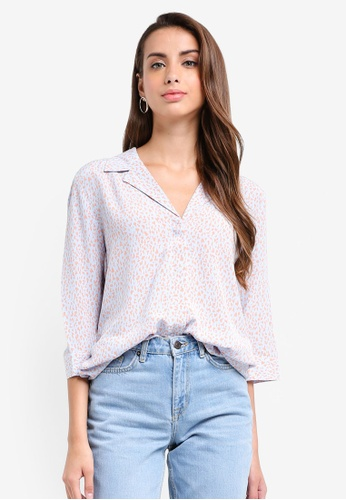 Selected Femme blue Danni Printed Shirt 00A00AA10584C7GS_1