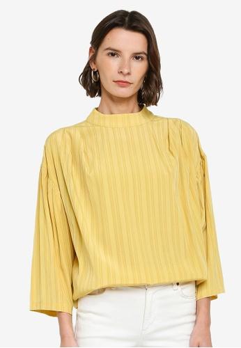 ZALIA BASICS yellow Mock Neck Long Sleeve Blouse B3B90AA0C1708AGS_1