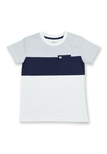 Moose Gear white and blue and navy Boys T-Shirt With Side Pocket 56D44KAEB59CDAGS_1
