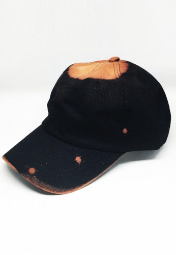 M-Wanted black M. Art X Dip Dye Baseball Cap MW173AC83BNWSG_1